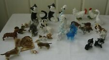 31 Miniature Vintage Animal Figurines~Bone China~Dogs~Cats~Hippo's~Rooster~Lamb