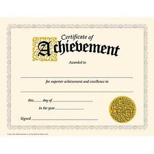 30 Classic Certificate of Achievement (large) award pack by TREND