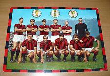 CAMPIONATO DI CALCIO SERIE A 1969-1970 FOTO FORMAZIONE SCHIERATA A.C. MILAN