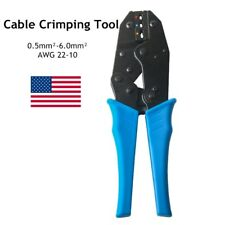 Cable Crimper Insulated Electrical Ratchet Wire Plier 05 60mm Crimping Tool