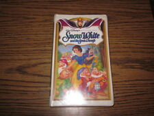 Snow White and the Seven Dwarfs Walt Disney Masterpiece Collection VHS Used/Rare