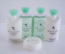 New BVLGARI AU THE' VERT 5pc Shampoo Conditioner Gel Lotion Soap Lrg Travel Set