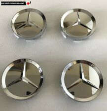 4 PCS 63mm Mercedes Benz Chrome Wheel Hub Center Caps