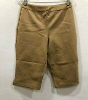Joan Rivers Women's Petite Joan's Signature Pull-On Capri Pants Khaki P2X Size