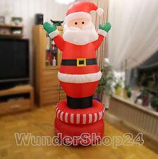Groß Aufblasbarer dauerdrehen Weihnachtsmann 180cm Weihnachtsdeko NEU