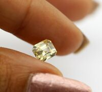 1.49 Ct 100% Natural Yellow Sapphire Loose Emerald Cut 6*5mm Mined In Ceylon Gem