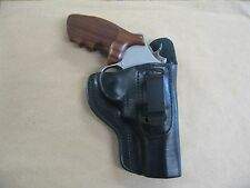 """S&W Lew Horton N Frame 3"""" Revolver IWB Leather In The Waistbnd Carry Holster BLK"""