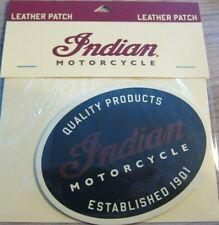 Indian Motorcycles Patch Leder Aufnäher schwarz 2863951 NEU! OVP