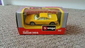 Ferrari 348 tb 1/43 scale Burago, yellow
