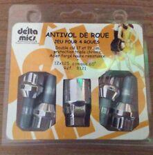 Delta Mics Locking Wheel Studs / Nuts - Peugeot & Citroen New
