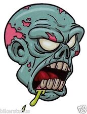 ZOMBIE HEAD WITH HARD HAT STICKER CAR PHONE HELMET LAPTOP DIE CUT #8