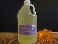 Lavender & Tea Tree Body & Massage Oil 64oz/Half Gallon 100% Natural