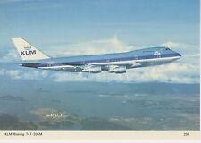 Postcard 1300 - Aircraft/Aviation KLM Boeing 747-206M