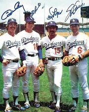 1981 Dodger Infield Ron Cey Lopes signed 8X10 photo picture poster autograph RP