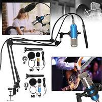 USB Condenser Microphone Live Streaming Studio Recording Gaming Kit W/ Mic Mount