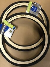 Pair Schwalbe 20 X 1.75 Road Cruiser White Wall Tyres