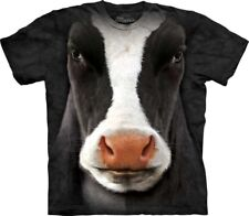 New The Mountain Black Cow Face T Shirt