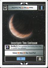 STAR TREK CCG WHITE BORDER PREMIERE 1995 BETA RARE INVESTIGATE TIME CONTINUUM