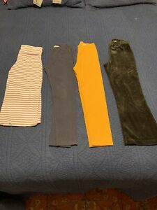 Hanna Andersson Girl's Leggings Velour Pants Yoga Capris Lot 4 Pair 140 US 8
