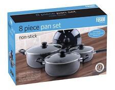 8PC NON STICK COOKING PAN SAUCEPAN POT SET COOKWARE KITCHEN CASSEROLE STOCK UK