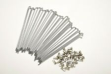 kit 40 spokes and nipples polished steel diameter 4,0 mm length 210 mm 90° new