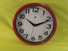"New ListingInfinity Wall Clock 9"" Red"