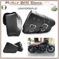 Borse Bisacce Rigide Borse Laterali Custom Moto Universali Nero M213
