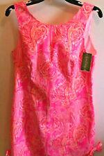 Lilly Pulitzer Tiki Pink Tippin It Back Size 8 Girls Dress Flamingo