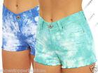 NEW Womens SHORTS DENIM Tie Dye Ladies HOT PANTS Size 8 10 12 14 16 short