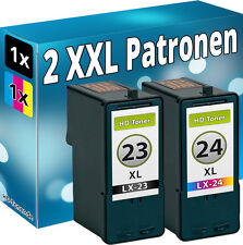 2x TINTE PATONEN für LEXMARK 23+24 34+35 XL X3530 X3550 X4530 X4550 Z1410 Z1420