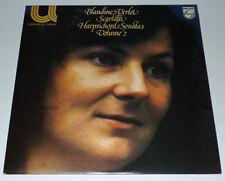 SCARLATTI LP HARPSICHORD SONATAS VOL2 BLANDINE VERLET NR MINT PHILIPS  6581 028