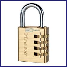 Combinación Candado-Master Lock 604D * Código de 4 Dígitos *