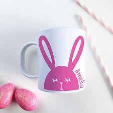 Personalised Easter Gift - Unbreakable Kids Cup, Modern Bunny Pink toddler mug