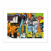 Graffiti Mural Paralimni Primary Cyprus Canvas Wall Art Print