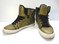 SUPRA WOMEN'S Sneakers Shoes Size 6 US 36.5 EU BLACK GOLD HIGH Top
