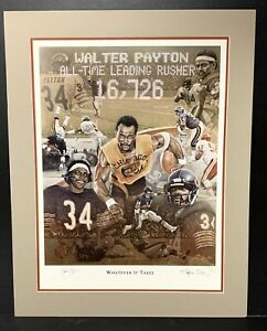 Walter Payton Signed Matted 16x20 Photo Limited Edition Autographed Artist COA