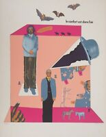Antonio Segui : Der Comfort IN L'Air - Lithografie Originell Unterzeichnet, 1970