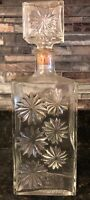 Vintage Glass Decanter Stars
