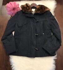 Allegri Utility Field Jacket Fur Hood Mink? Beaver? Made In Italy 44 Us 8 Euc