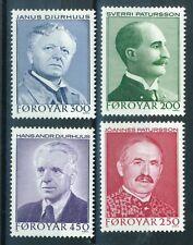 Faroe Islands Stamps - Scott # 108-111 MNH - Poets 1984 (S270)