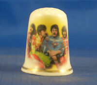FINE PORCELAIN CHINA THIMBLE -  BEATLES SGT PEPPERS -- FREE GIFT BOX