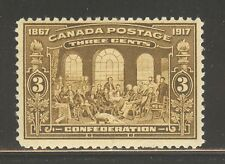 Canada #135, 1917 3c Fathers of Canadian Confederation, Unused Never Hinged