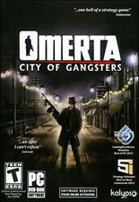 OMERTA CITY OF GANGSTERS - Mobster Simulation Strategy PC Game NEW WinXP,Vista,7