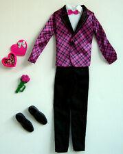 Ken Clothes/Fashions Ken Pink & Black Tuxedo W/Shoes & Accessories New!