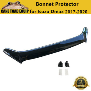 Bonnet Protector Guard for Isuzu D-Max Dmax 2017-2020 MY19 Tinted Black Durable
