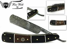 Damascus Steel Straight Razor Cut Throat Barber Salon Shaving Razor Bone Handle