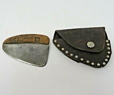 RARE Authentic Ulu Knife - Alaska Inuit Yupik Hunter - Leather Sheath - Handmade