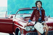 NWT BURGANDY GUESS Embellished Denim Biker Jacket top SIZE XS