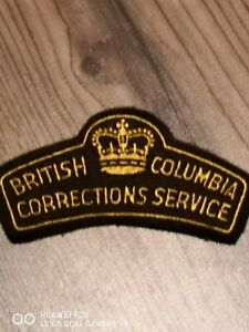 Older British Columbia Corrections/Jail Service Canada patch!