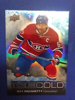 2017-18 Upper Deck Overtime Ice Cold #IC-6 Max Pacioretty Montreal Canadiens